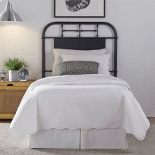 Full Metal Headboard - Black
