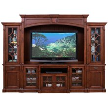 Television Console in Chestnut