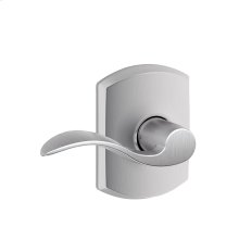 Accent Lever with Greenwich trim Hall & Closet Lock - Satin Chrome