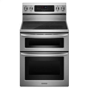 Kitchenaid30-Inch 5-Element Electric Freestanding Double Oven Range, Architect® Series II - Stainless Steel