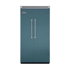 "Iridescent Blue 42"" Side-by-Side Refrigerator/Freezer - VISB (Integrated Installation)"