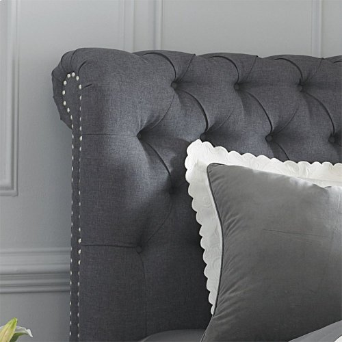 King Chesterfield Sleigh Headboard