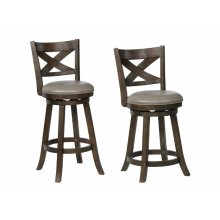 Kipper Swivel Pub Stool Grey K/d