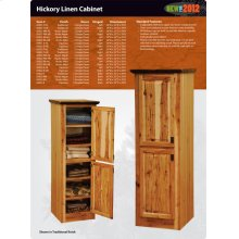 Hickory Linen Cabinet