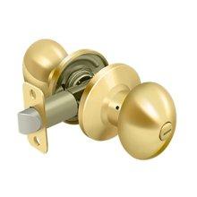Egg Knob Privacy - PVD Polished Brass