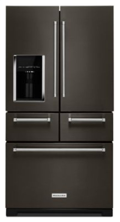 "25.8 Cu. Ft. 36"" Multi-Door Freestanding Refrigerator with Platinum Interior Design - Black Stainless Product Image"