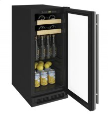 """1000 Series 15"""" Beverage Center With Stainless Frame Finish and Field Reversible Door Swing"""