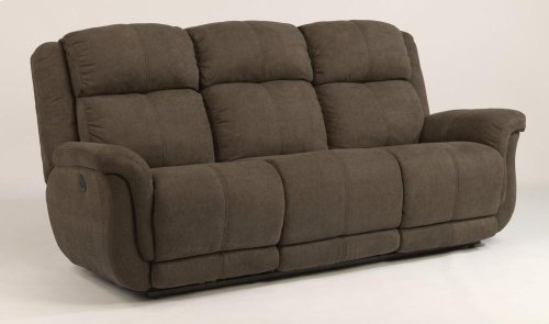 Brookings Leather or Fabric Power Reclining Sofa