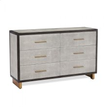 Maia 6 Drawer Chest - Grey