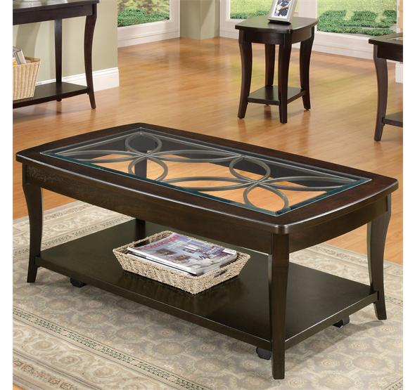Annandale Rectangular Coffee Table Dark Mahogany Finish