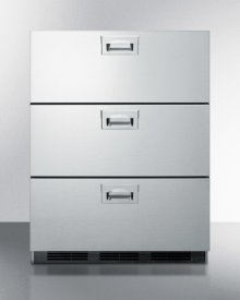 Commercially Approved Built-in Stainless Steel Refrigerator With Three Drawers and Automatic Defrost