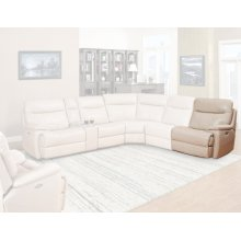 Dylan Crème Power Right Arm Facing Recliner