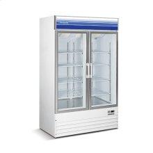 45 cu ft 2 Door Merchandiser Freezer (White)