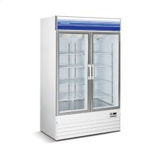 45 cu ft 2 Door Merchandiser Freezer (White)