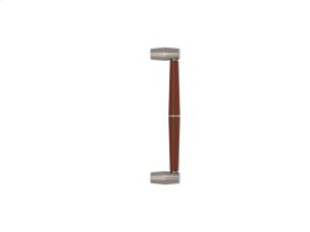 Tube Split Stitch Out Combination Leather In Chestnut And Satin Nickel