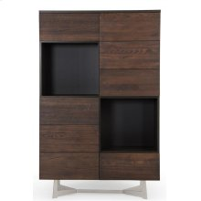 Modrest Wharton Modern Dark Aged Oak Tall Buffet