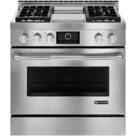 """Display Demo Model Pro-Style® Gas Range with Griddle and MultiMode® Convection, 36"""""""