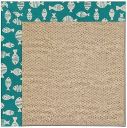 Creative Concepts-Cane Wicker Go Fish Turquoise