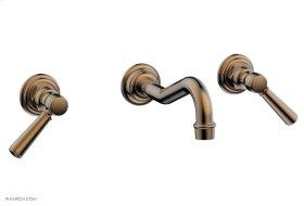 HENRI Wall Tub Set - Lever Handles 161-57 - Old English Brass
