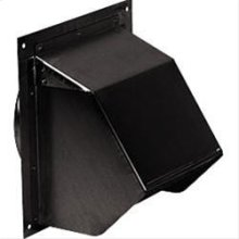 "Wall Cap, Black, for 6"" round duct"
