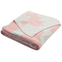 Bunny Hop Knit Throw - Blossom / Vanilla / Grey
