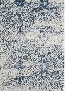 Damask Das06 Ivnav Rectangle Rug 5' X 7'