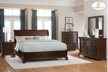 Queen Low Profile Sleigh Bed