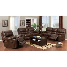 Ramsey Cognac Leather Reclining Set, ML9055