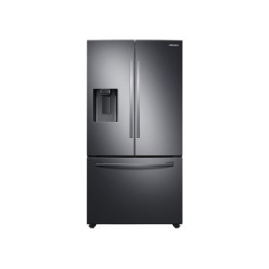 Samsung27 cu. ft. Large Capacity 3-Door French Door Refrigerator with Dual Ice Maker in Black Stainless Steel