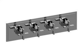 M-Series Valve Horizontal Trim with Four Handles