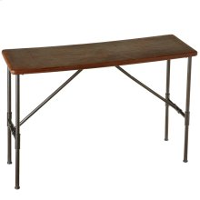 Leather Top Console Table.