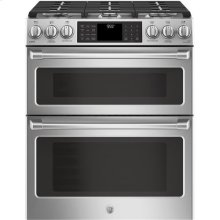 Slide-In Front Control, Double Oven, 6.7 cu ft (2.4/4.3) Self Clean, True Convection Oven, Gas Range