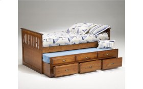 Logan Cherry Twin Captain's Bed