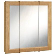 "Richland Tri-View Medicine Cabinet Mirror 48"", Nutmeg Oak #530584"