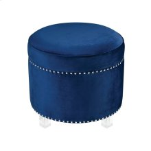 National Velvet Ottoman - Navy