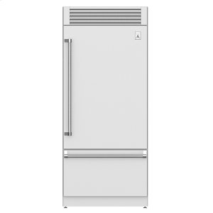 "Hestan36"" Pro Style Bottom Mount, Top Compressor Refrigerator - KRP Series - Steeletto"