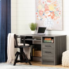 Desk with 2 Drawers - Gray Maple