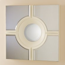 Bulls Eye Cross Mirror-White