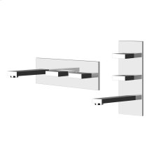 """TRIM PARTS ONLY Wall-mounted washbasin mixer trim Spout projection 7-7/8"""" Vertical or horizontal application Drain not included - See DRAINS section Requires in-wall rough valve 26589 Max flow rate 1"""