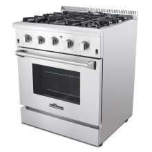 "Hrg3026u 30"" Professional Stainless Steel Gas Range"