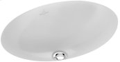 Undercounter washbasin (oval) Oval - White Alpin