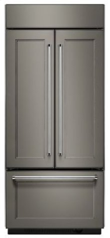 """20.8 Cu. Ft. 36"""" Width Built In Panel Ready French Door Refrigerator"""