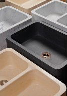 Polished Front Farmhouse Sinks Honed Basalt Product Image
