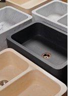 Polished Front Farmhouse Sinks Honed Basalt Product Image