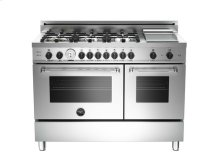 Stainless 48 6-Burner + Griddle, Gas Double Oven LP