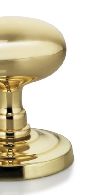 Modern Narrow Plate Knob Latchset in US3 (Polished Brass, Lacquered)