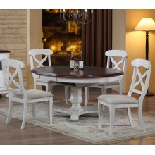 DLU-ADW4866-C12-AW5PC  5 Piece Andrews Butterfly Leaf Dining Set  Antique White