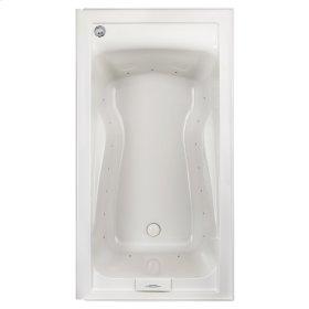 Evolution 60x32 inch Deep Soak Massage Tub with Apron - White