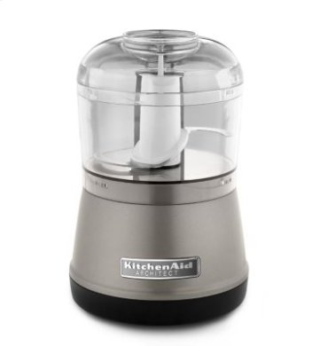 3.5 Cup Food Chopper - Cocoa Silver