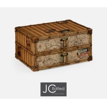 Travel Trunk Style Desktop Chest